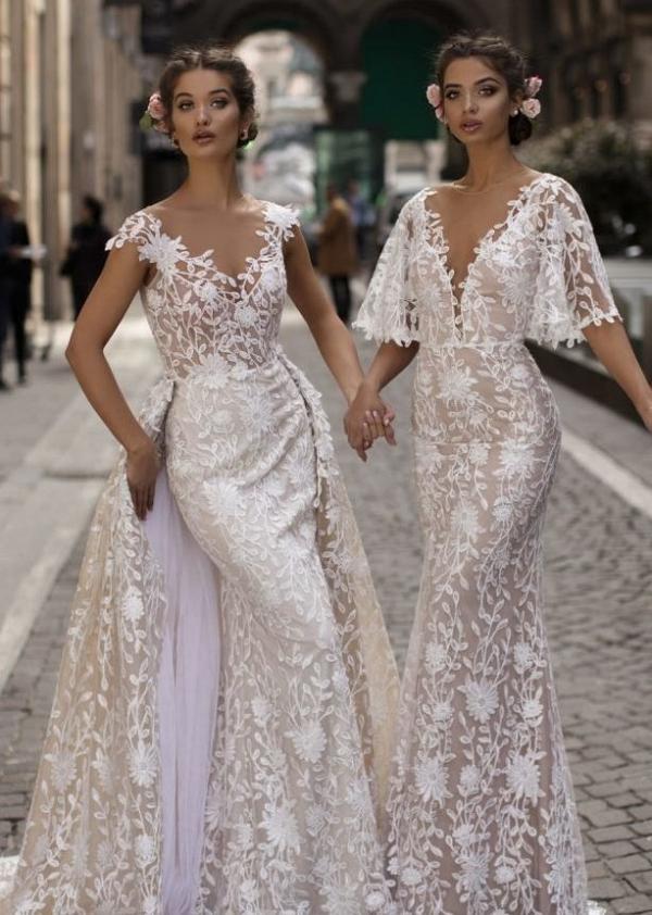 Tarik Ediz lace wedding dresses