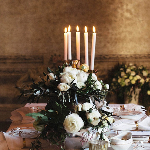 Romantic Greek inspired tablescape