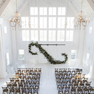 Greenery ceremony at The White Sparrow Barn