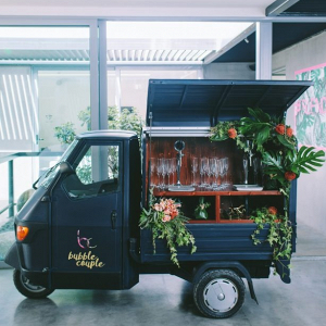 Prosecco truck at wedding