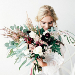 Oversized wedding bouquet