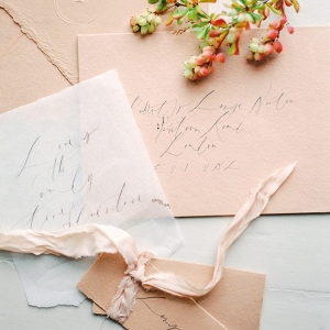 Calligraphy stationery fine art wedding inspiration