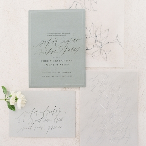 Calligraphy Stationery designed by Tara Spencer