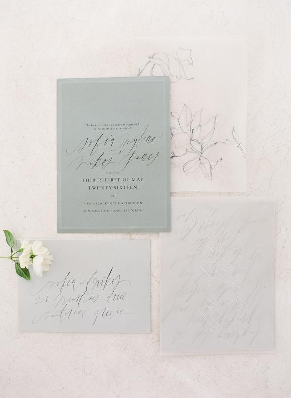 Calligraphy Stationery designed by Tara Spencer
