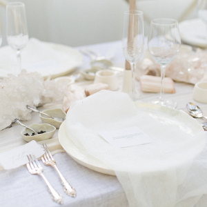 Boheme Neutral table setting design