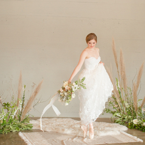 Ballet inspired bridal portrait