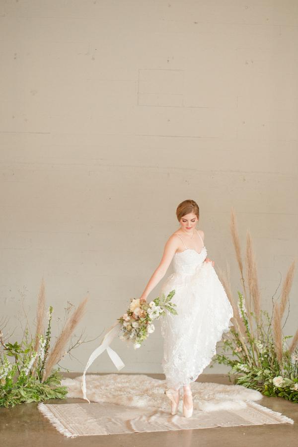 Ballet inspired bridal portrait