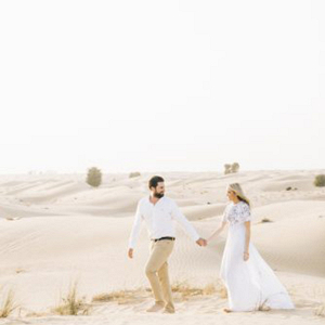 A stunning engagement shoot in the desert