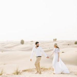 A stunning engagement shoot in the desert
