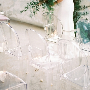 contemporary clear louis chairs for the ceremony seating