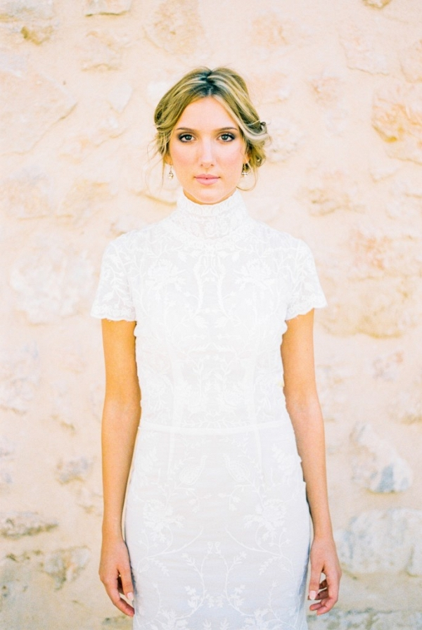 Victoriana Inspired French Cornelli Lace Wedding Dress from Luella's Bridal