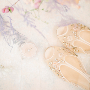 Beautiful Peep Toe Bella Belle Shoes embellished with crystals