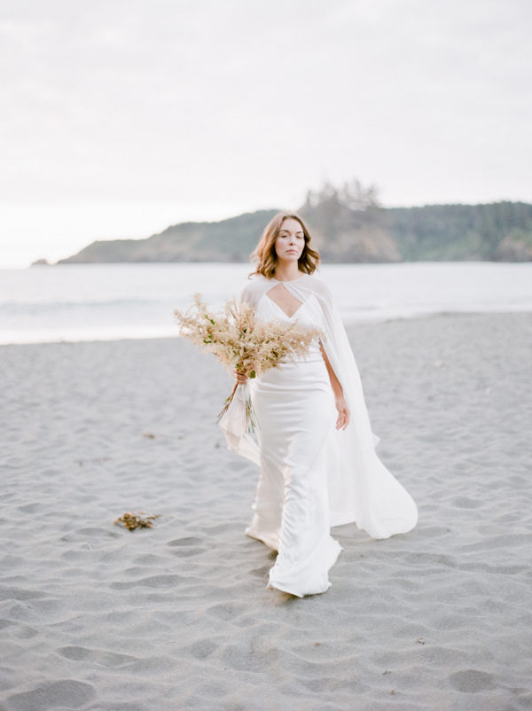modern chic bridal look with floor length cape by alexandra grecco photographed by madalina sheldon photography