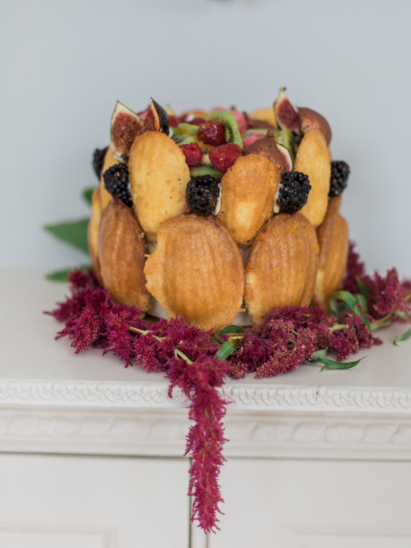 alternative design by MonAnnie Cakes which includes delicious madeleines and plenty of fresh seasonal fruit