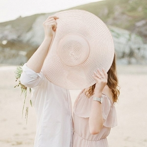 Romantic Tranquil English Beach Engagement Session