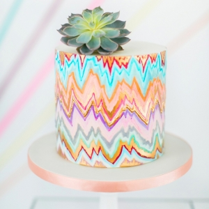 Tribal-inspired Geometric Wedding Cake