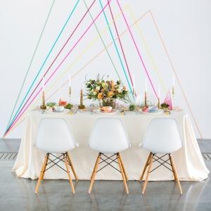 Geometric Spring Wedding Tablescape