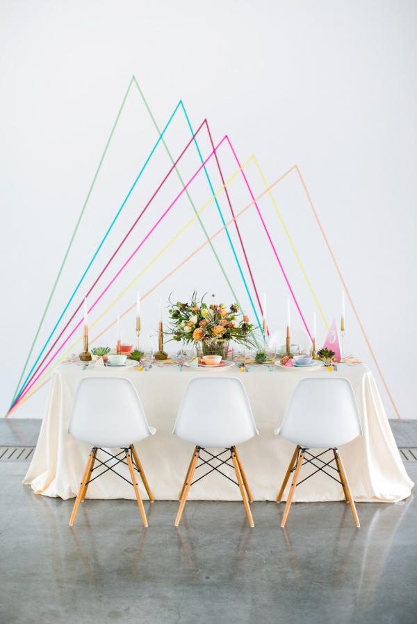 Geometric Spring Wedding Tablescape