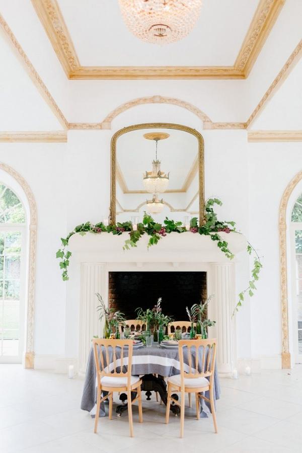 grand ballroom with table setting