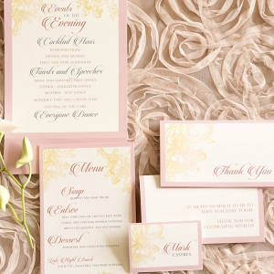 Blush Pink Inspired Wedding Invitation Suite