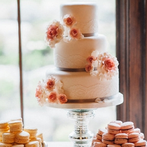 Pretty in Pink Wedding Cake from Pure Aperture Photography