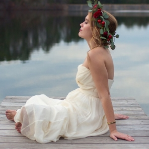 DIY Floral Crown from a Floral Garden Inspired Styled Shoot