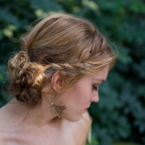 Pretty Bridal Hairstyle - wispy with a side braid up-do