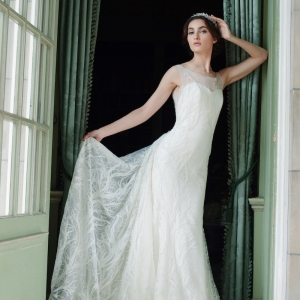 Sareh Nouri Fall 2016 Shiraz Trumpet Wedding Gown