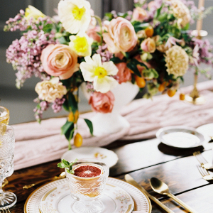 Colorful pastel tablescape