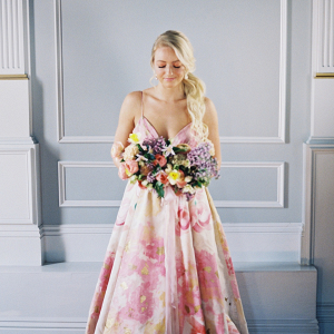 Watercolor wedding dress