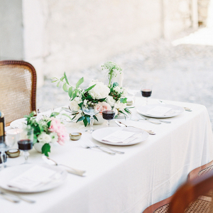 Romantic al fresco reception