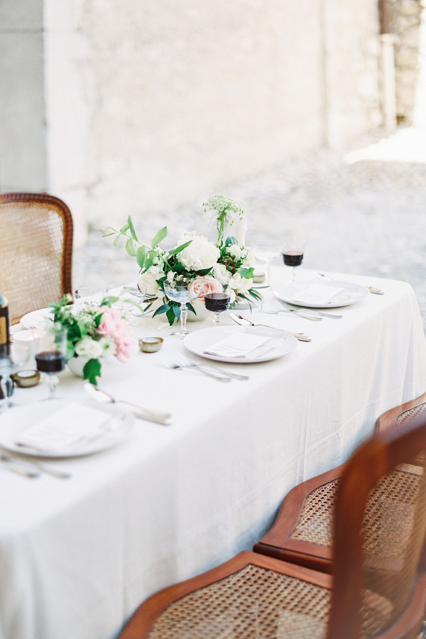 Romantic al fresco reception