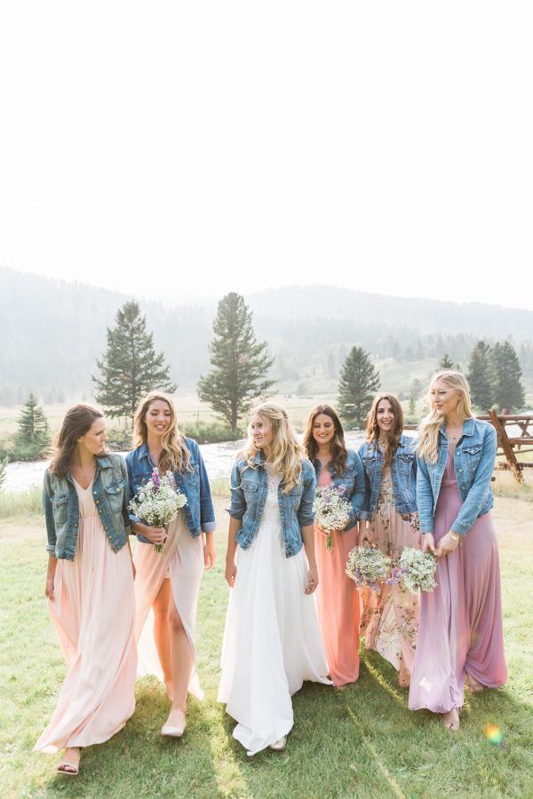 Bridesmaid Jackets | Rustic Montana Ranch Wedding Aisle Society