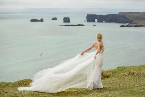 Dramatic Iceland bride