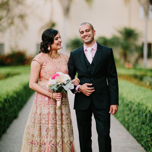 Elegant Indian couple on Bridal Musings