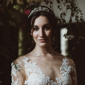 Bride in tiara