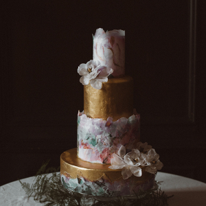 Floral inspired wedding cake