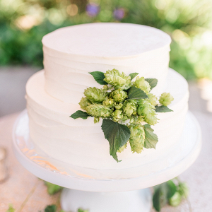 Hops decorated wedding cake
