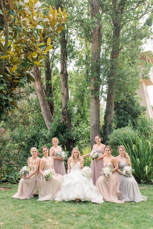 Soft pastel bridal party