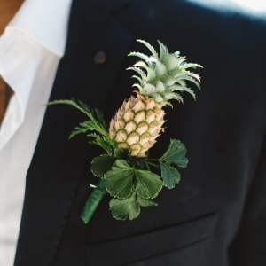 Bula Bride // Fiji Wedding – Pineapple Button Hole. Captured by Leezett Photography