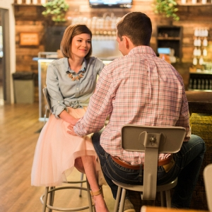 Bride to Be Pink Tulle Skirt Bar Beer Fiance Brewery Engagement Session