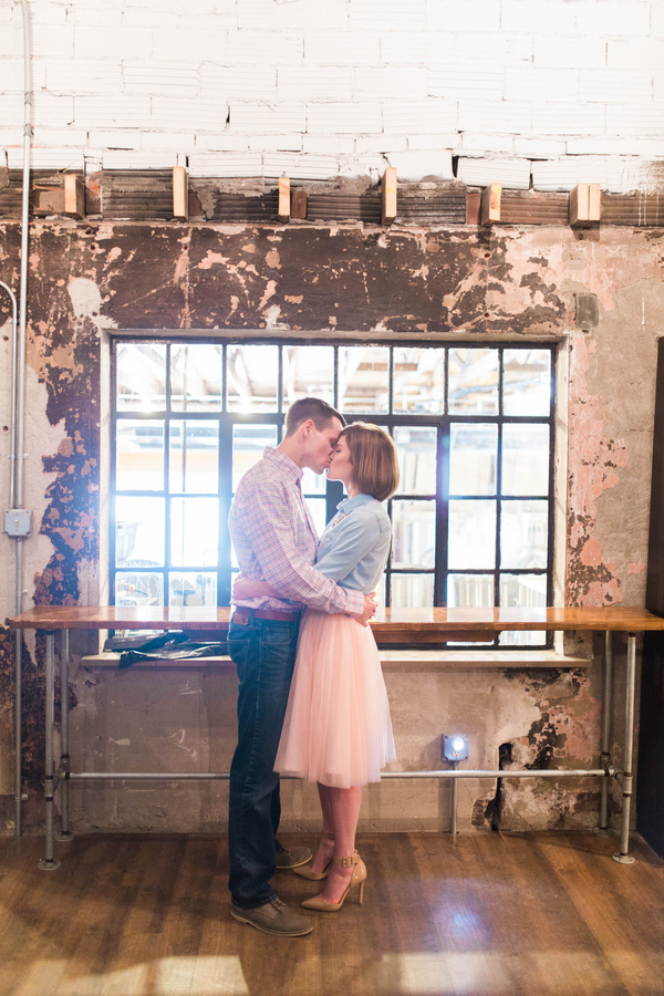 Industrial Chic Decor Local Brewery Perfect Backdrop Brewery Engagement Session
