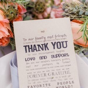 Thank You Note Place Setting Charming DIY Farm Wedding Pittsburgh