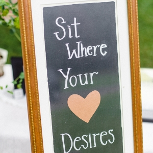 Handpainted DIY Chalkboard Sign Guests Charming DIY Farm Wedding