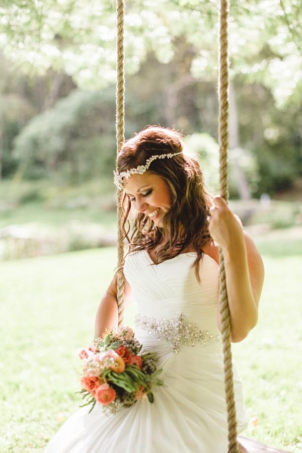 Boho Bride Wildflower Bouquet Beaded Headpiece Farm Wedding