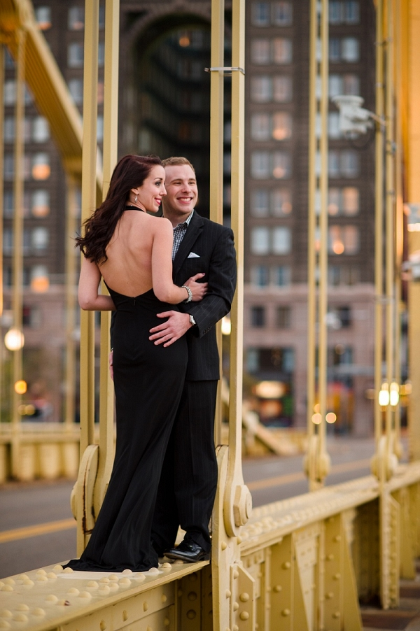 Black Tie Meets Urban Meets Fall in The Park in This Dichotomous Engagement Shoot