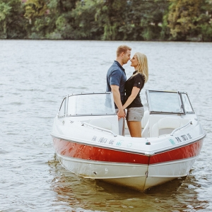 Photographer Boat Bride Groom Unique Engagement Session Water