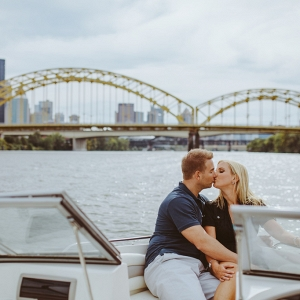 Boating River Unique Engagement Session Water