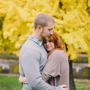 Bright Yellow Tree Colors Season Fall Foliage Engagement Session