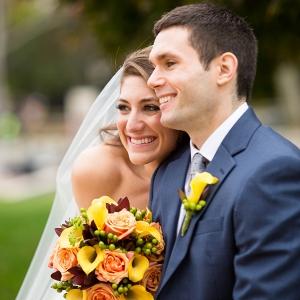 Bride Groom Stunning Morning Bridal Portraits Fall Inspired Brunch Wedding